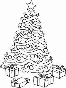 coloring pages of christmas presents - christmas tree coloring pages az coloring pages