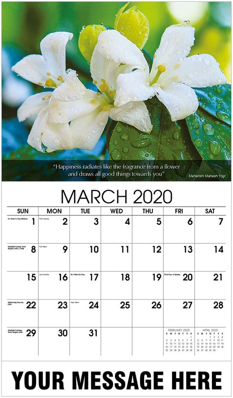 business promo calendars flowers gardens calendar
