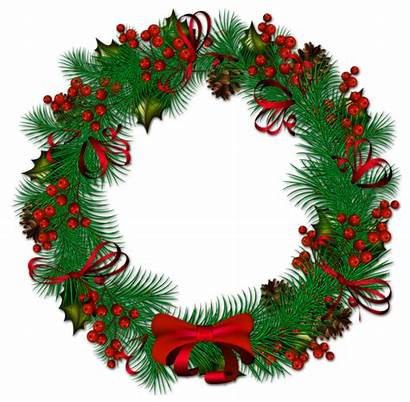 Wreath Christmas Transparent Clipart Background Garland Wreaths