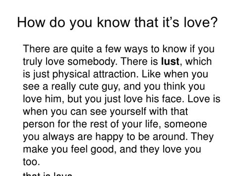 How To Know If A Guy Loves You Or Lusts You, So In Love
