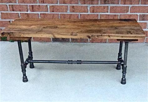 iron pipe desk plans diy reclaimed pallet and iron pipe bench 101 pallets