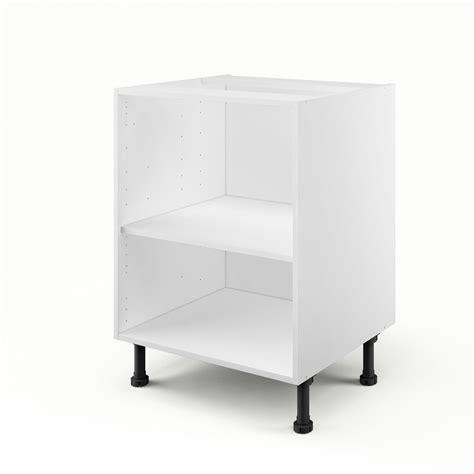 dimension meuble cuisine caisson de cuisine bas b60 delinia blanc l 60 x h 85 x p