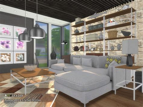 sims resource avangarde livingroom  artvitalex