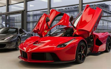 Ferrari Laferrari Car With Open Doors Desktop Wallpapers