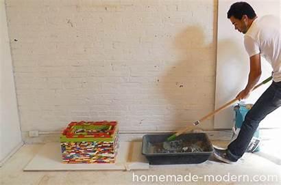 Concrete Homemade Ep56 Nightstand Walnut Modern Let