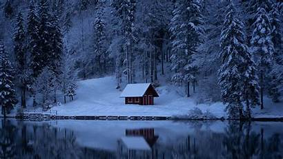 Snow Winter Forest Lake Nature 1080p Wallpapers