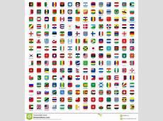 Flaggen Der Welt Ikonen Stockbilder Bild 35880344