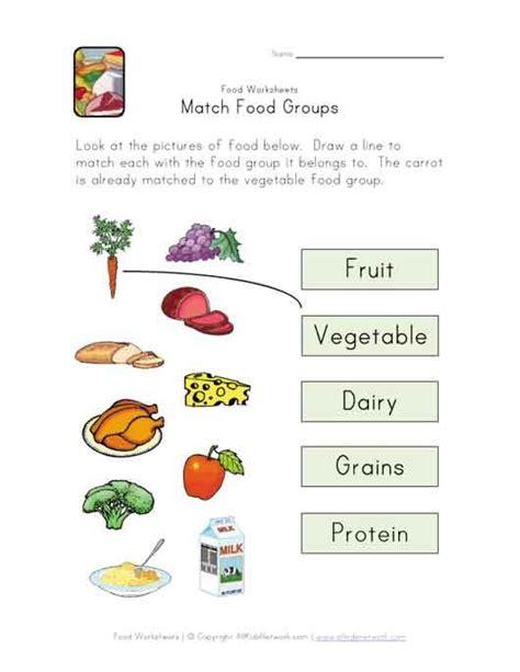 food groups worksheets for kindergarten match food groups worksheet science activities for the