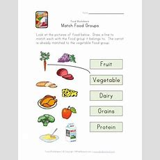 Match Food Groups Worksheet  Science Activities For The Classroom  Pinterest  Group, Food