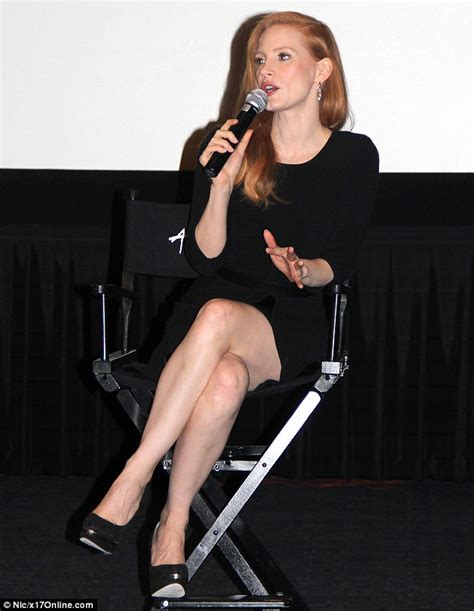 She?s got legs appeal: Jessica Chastain shows off her slim
