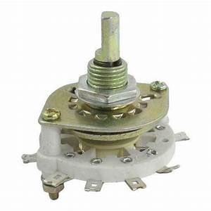 2 Pole 4 Position Rotary Switch