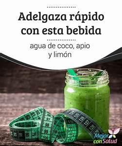 17 best images about bebidas para perder peso on pinterest With aumenta el metabolismo con agua de coco apio y limon