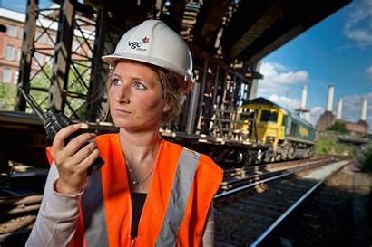 Portrait Construction Worker Female Michael Railway