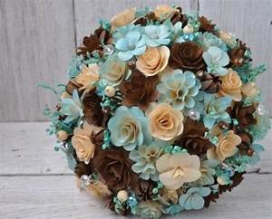 Blush Blue and Brown Wedding Bouquet or Centerpiece ...