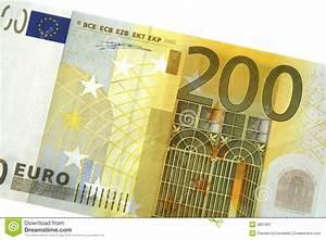 200 Euro Note Detail Stock Image  Image Of Exchange  Bank