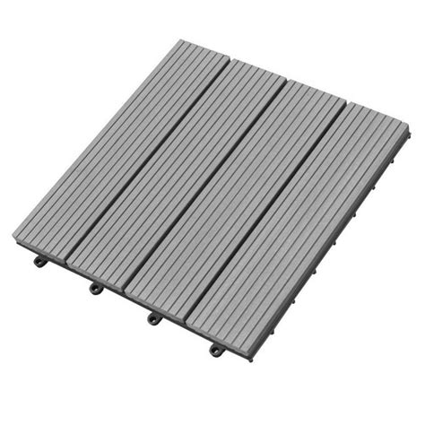 abba patio 12 x 12 inch outdoor four slat composite