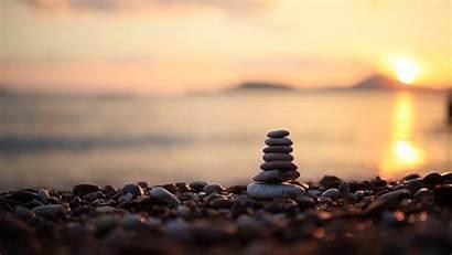 Stones Beach Peace Mind Balance Calming Equilibrium