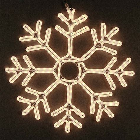 24 quot deluxe rope light snowflake frosted white