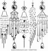 Chimes Wind Pavilion Clipart Template Coloring Sketch Pages Templates Clipground Element sketch template