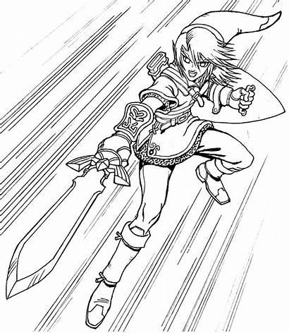 Zelda Coloring Link Ausmalbilder Breath Wild Coloriage