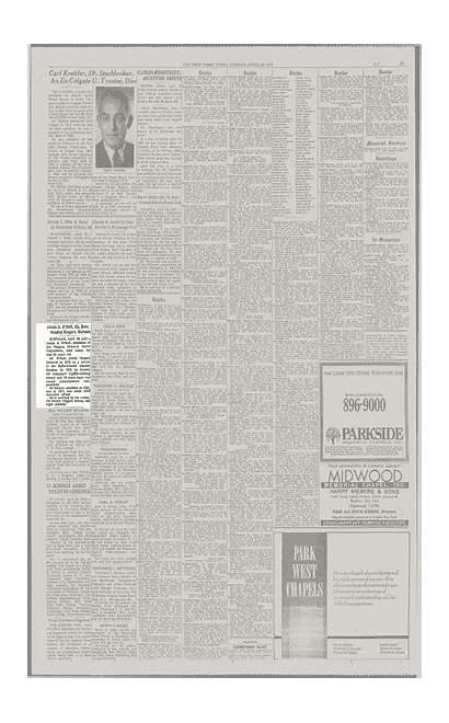 Times York Mohawk Headed Niagara Dies James
