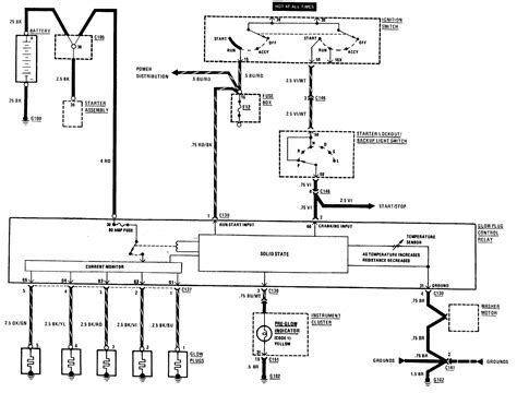 wiring diagram for glow relay i a 1982 300d project on the go my glow plugs do not