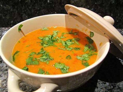 soupe de lentilles corail à l indienne lacath au four et au moulin
