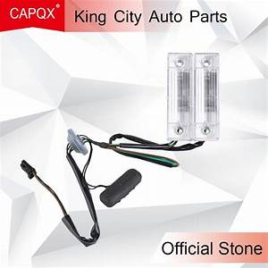 Capqx 1pcs For Chevrolet Cruze 2009 2014 Rear Back License Plate Light With Trunk Switch Lid