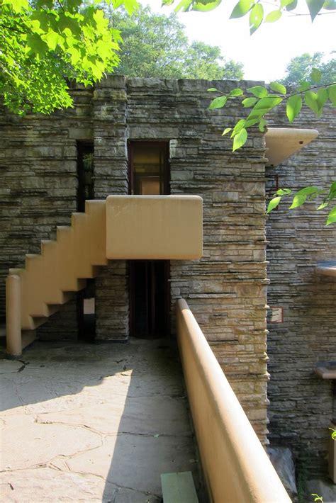 pa mill run fallingwater stairs  west terrace