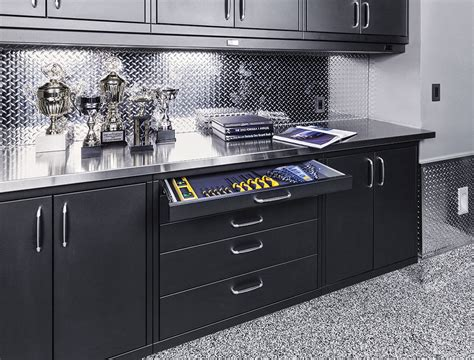 Garage Cabinets And Countertops by The Underground Garage Makeover