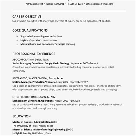 supply chain and logistics executive resume exle