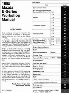 1995 Mazda Pickup Truck Repair Shop Manual Original B2300