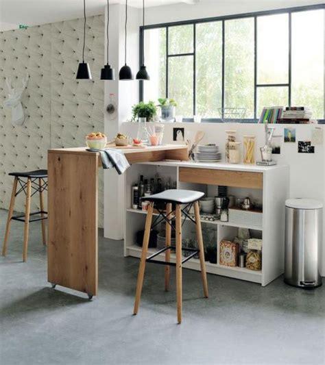 cuisine avec bar table plan de travail pour cuisine meilleures images d