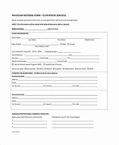 sample referral form 10 examples in word pdf With doctor referral form template