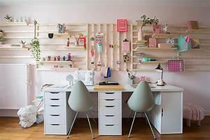 Comment Faire Un Bureau Soi Meme : rangement mural comment bien organiser son bureau maison cr ative ~ Melissatoandfro.com Idées de Décoration