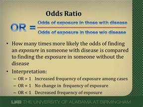 what does an odds ratio or relative risk