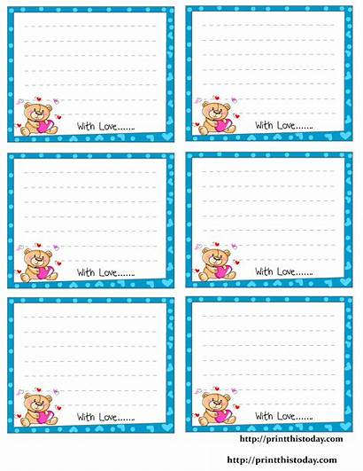 Printable Notes Stationery Him Printables Note Cards