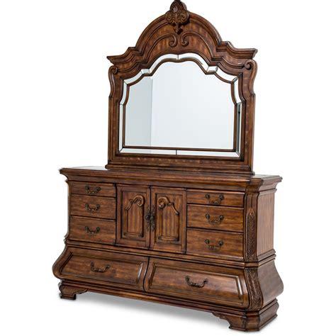 aico michael amini tuscano mansion bedroom set in melange