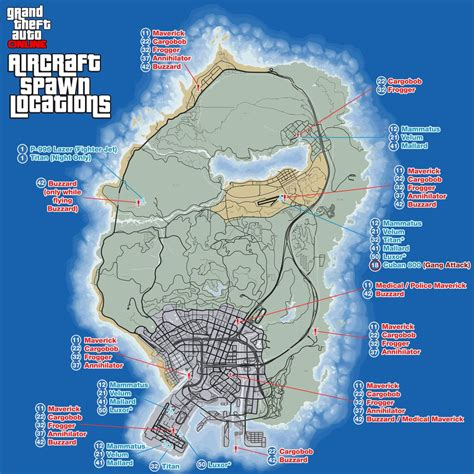 Gta Online Aircraft Spawn Locations