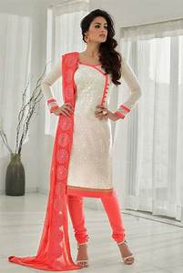 White Chanderi Churidar Salwar Kameez | Shopping, UX/UI ...