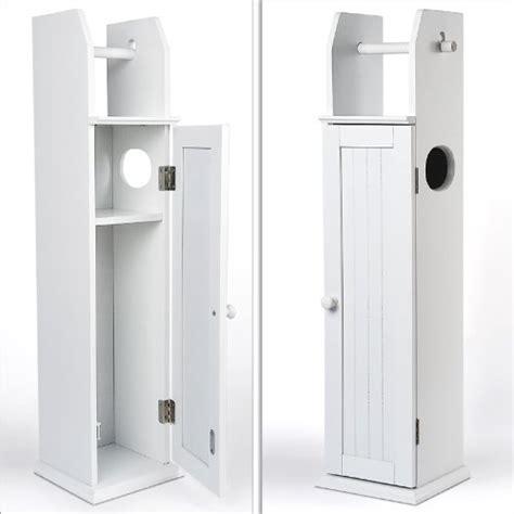 examen support rouleau papier toilette en bois blanc 78 cm