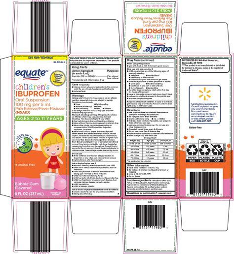 Dailymed Equate Ibuprofen Childrens Ibuprofen Suspension