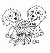 Popcorn Coloring Dog Printable Eating Sheet Sheets Eat Animal Drawing Dogs Puppy Kernel Bag Farm Popular Printables Getdrawings Template Coloringkidz sketch template
