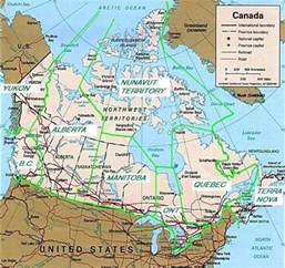 Canada and United States Map