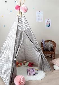 Tipi Pour Chambre : tipi pour enfant g om trique gris taupe creacoton ~ Teatrodelosmanantiales.com Idées de Décoration