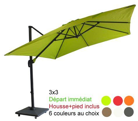 parasol sur pied deporte parasol excentr 233 224 mat d 233 port 233 3x3 avec sa housse et pied 70kg 224 4 roulettes d 233 part imm 233 diat