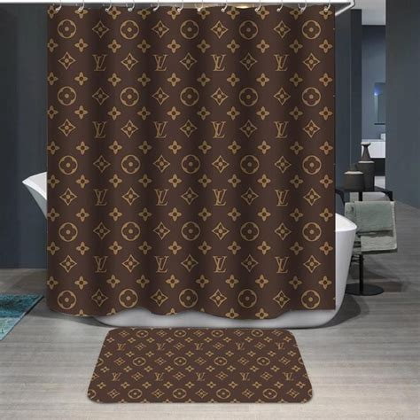 golden backdrop symbol lv shower curtain gojeek custom shower curtains