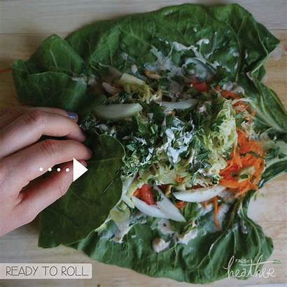 Collard Tahini Veggie Wraps Slice Half Need