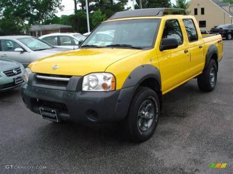nissan yellow 2001 solar yellow nissan frontier xe v6 crew cab 4x4