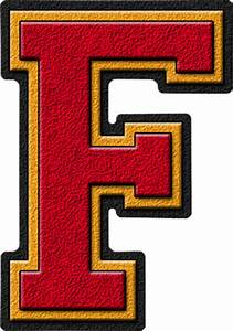 presentation alphabets cardinal red gold varsity letter f With varsity letter e